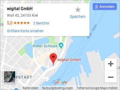 Kartenausschnitt wigital GmbH