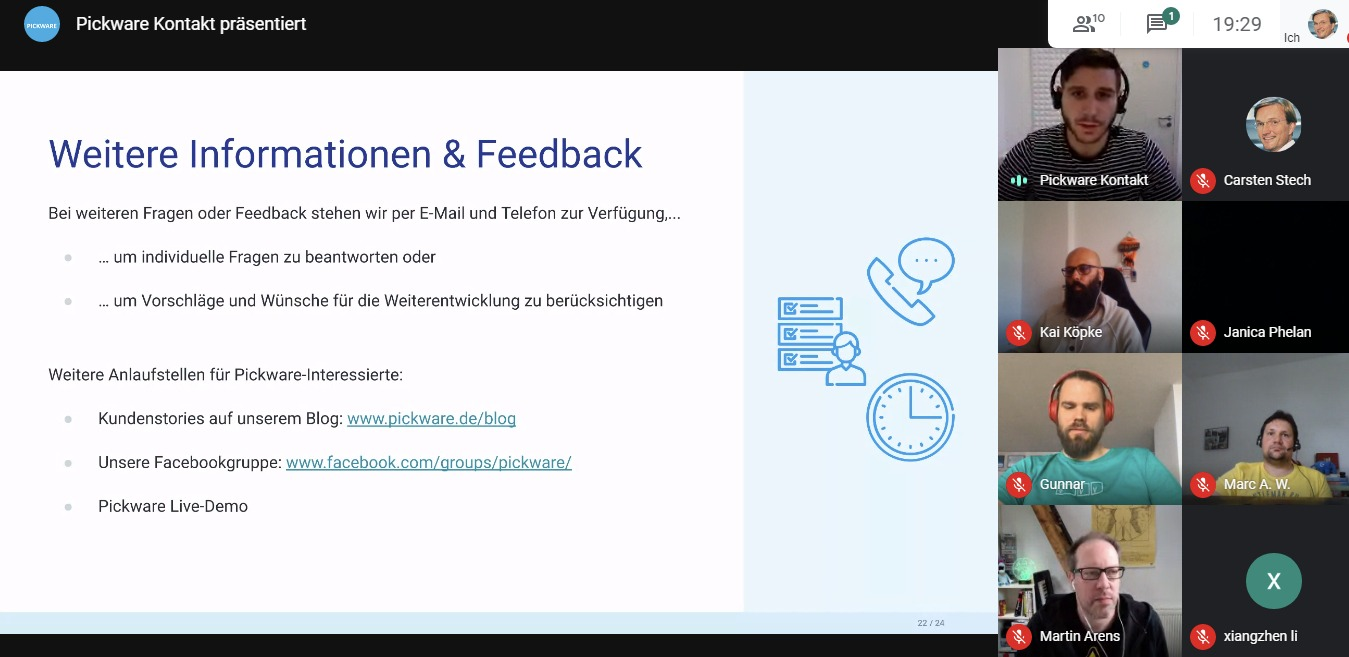 """Vortrag """"Pickware – Online Handel leicht gemacht"""" von Melchior Schäfer beim 28. Shopware Meetup Kiel"""