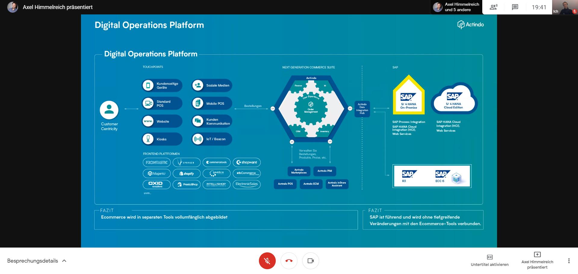 Axel Himmelreich von Actindo präsentiert das Konzept Digital Operations Platform (DOP)